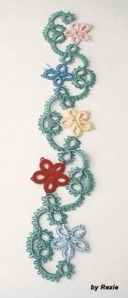 So pretty. Tatted Bookmark