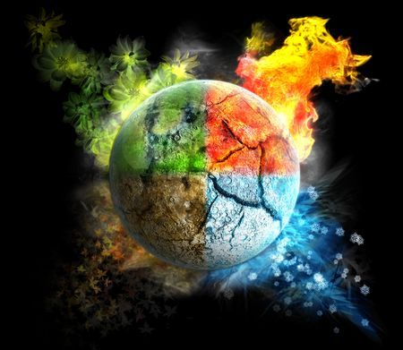 3 elements of fire earth