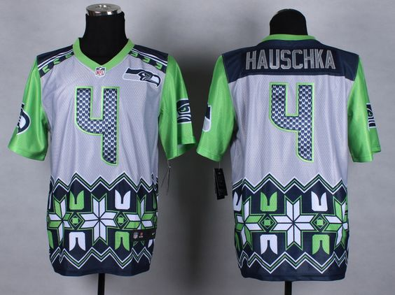 2015 Seahawks 4 Hauschka Noble Fashion Elite Jersey