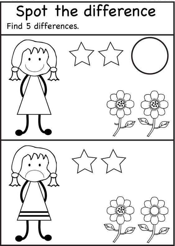 Spot The Difference Worksheets for Kids | Activity Shelter | Kids ...