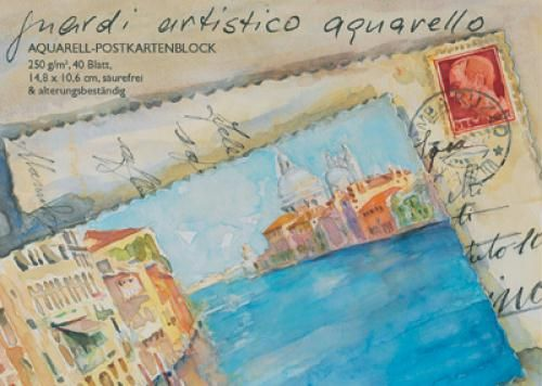 guardi artistico - Aquarell-Postkartenblock | boesner.com