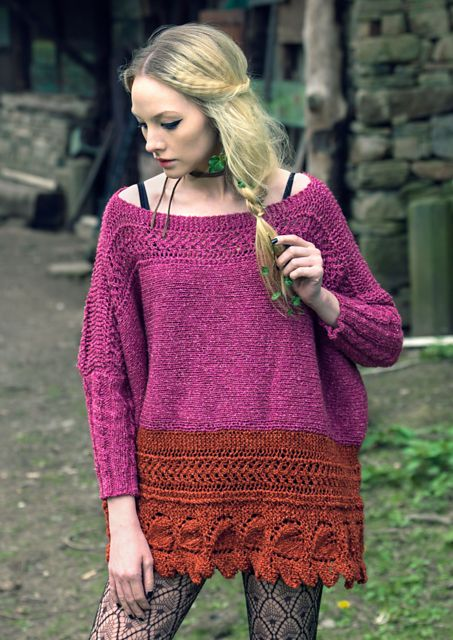 Ravelry: Ivy pattern by Louisa Harding. Poncho with sleeves.