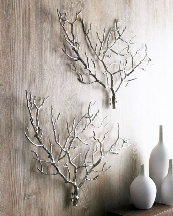 19 Spectacular Homemade Wall Decoration Ideas For Living Room Homemade Wall Decorations Tree Branch Wall Decor Handmade Wall Decor