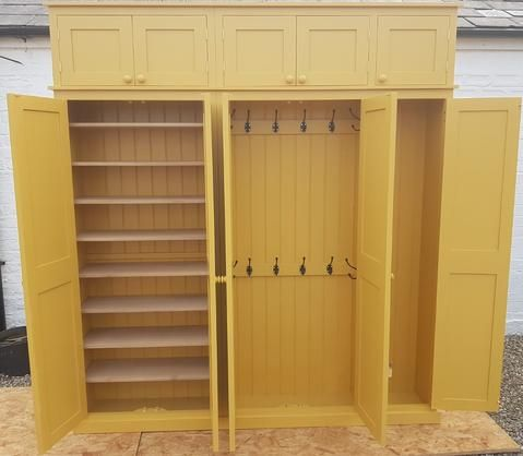 5 Door Hall Coat Shoe Storage Cupboard With Extra Top Storage Cupboard Storage Boot Room Storage Shoe Storage Cupboard