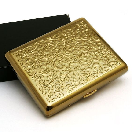 Gold Plated Embossed Arabesque Cigarette Case Cardcase http://www.woodstonepipes.com/collections/cigarette-cases/products/gold-plated-embossed-arabesque-cigarette-case-cardcase