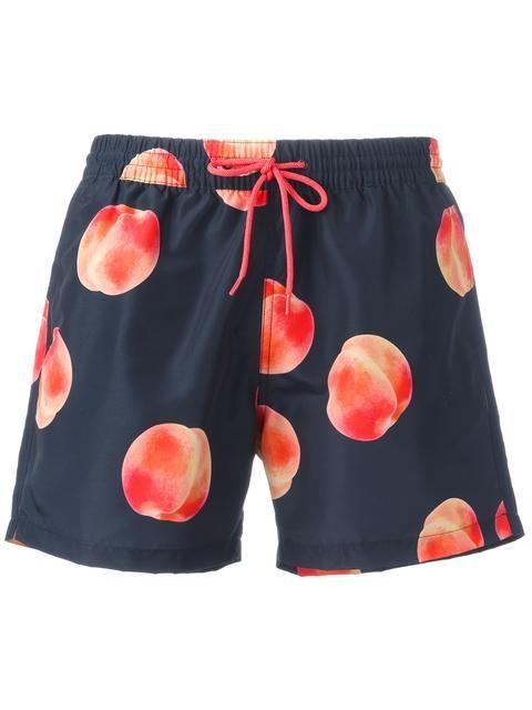 PAUL SMITH Apricot Print Swim Shorts. #paulsmith #cloth #shorts