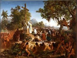 a primeira missa no Brasil  obra de victor meirelles criada em 1860