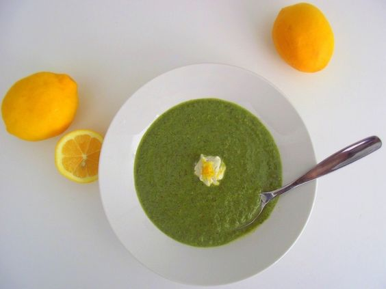Green Soup w/Meyer Lemon Yogurt