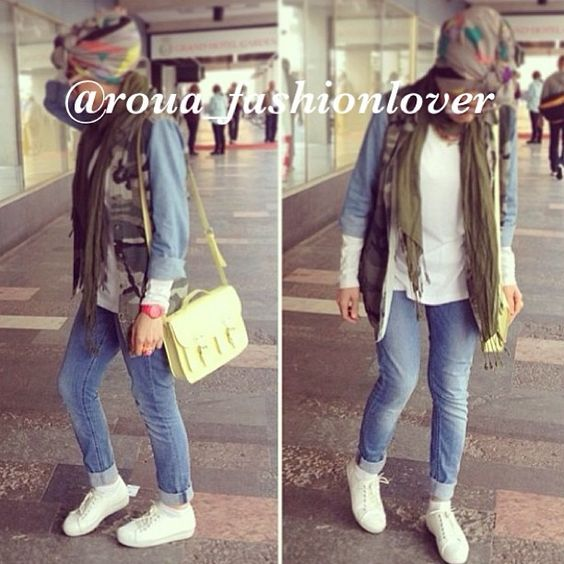 .@roua_fashionlover | #ootd #casual #hijab #turban # ...
