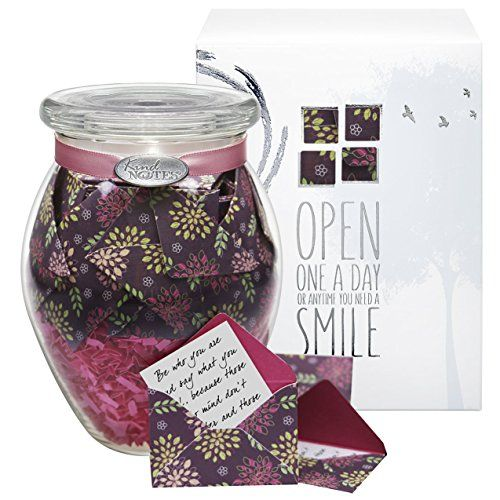 KindNotes INSPIRATIONAL Keepsake Gift Jar of Messages for Him or Her Birthday Thank you Anniversary Just Because  Purple Posy Review