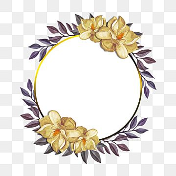 Wreath Cartoon Creative Wedding Decoration Material Png Transparent Clipart Image And Psd File For Free Download Wedding Card Frames Flower Clipart Wreath Watercolor