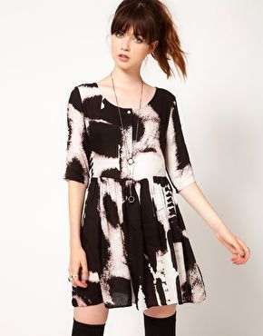 Enlarge Evil Twin 'Shadow Of Doubt' Printed Dress