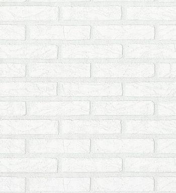 Papel pintado ladrillo blanco estilo industrial relieve vinilico 40648 ideas para el hogar - Papel pintado ladrillo blanco ...