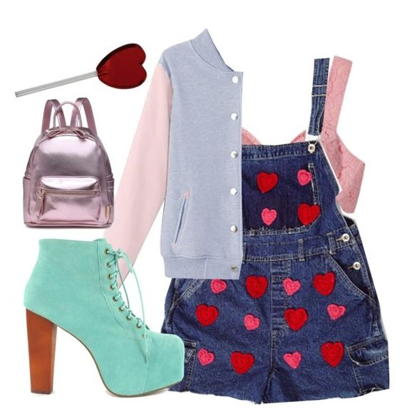 """Heart Overalls"" by angels-and-ametrines ❤ liked on Polyvore featuring Sretsis and Jeffrey Campbell"