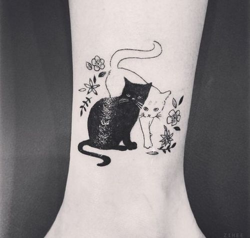 Pin By Ash On Ink Cat Tattoo Black Cat Tattoos Cat Tattoo Designs