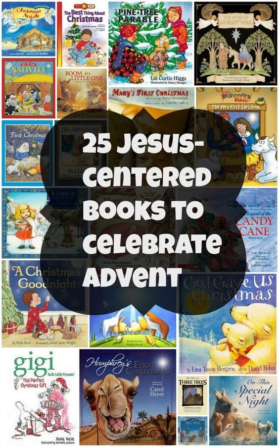 25 Jesus-centered Christmas books for Advent. Wrap them all up and let your kids choose one each day in December to read together as part of your Advent activities.