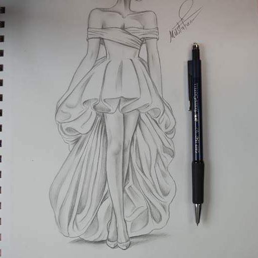 Pin By Rima 2014 On رسم Pencil Sketch Drawing Dress Design Sketches Art Sketches Pencil