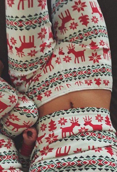 Christmas Fashion Print Cotton Pajamas For Women