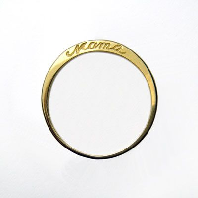 """Mama"" ring:  Nematode Worm, Mothers, Gift Ideas, Mother S, Mom Ring, New Mom Gifts"