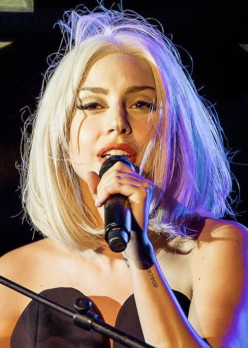 Gaga sings the national anthem at the Pride ralley in NYC June 28