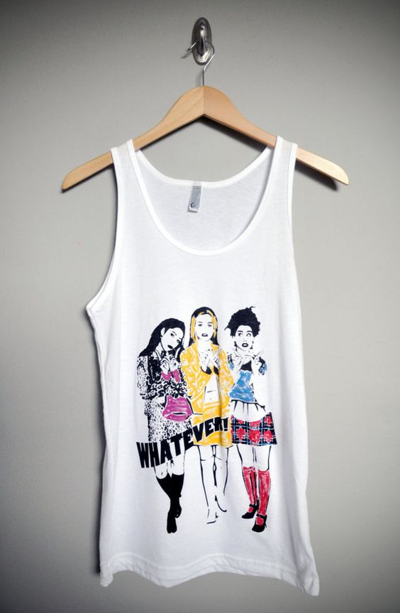 Whatever / Clueless Unisex Tank Top T-Shirt by lovejonny on Etsy