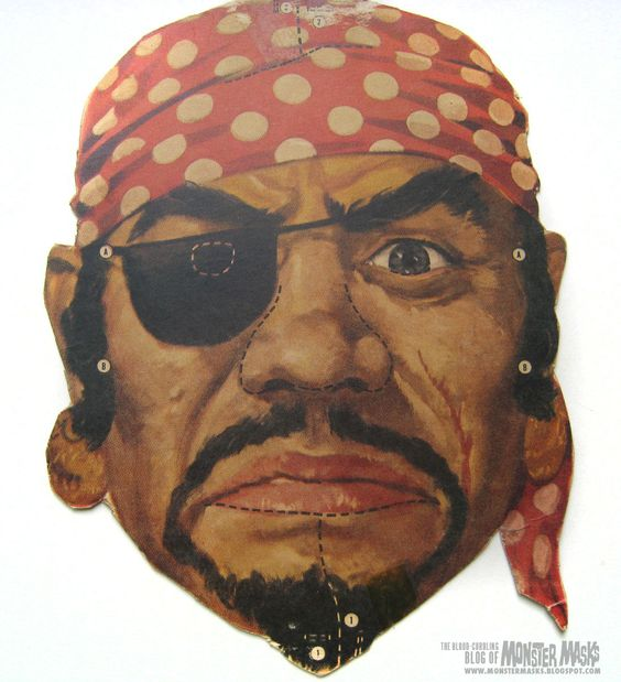 Printable masks pirates and masks on pinterest for Make your own halloween mask online