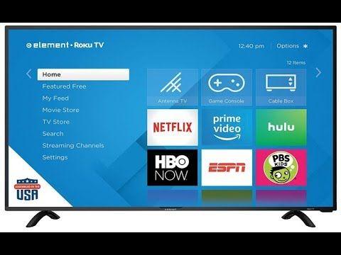 New Element E4sc4018rku 40 Class 4k Uhd Roku Smart Led Tv Overview Led Tv Smart Tv Netflix Videos