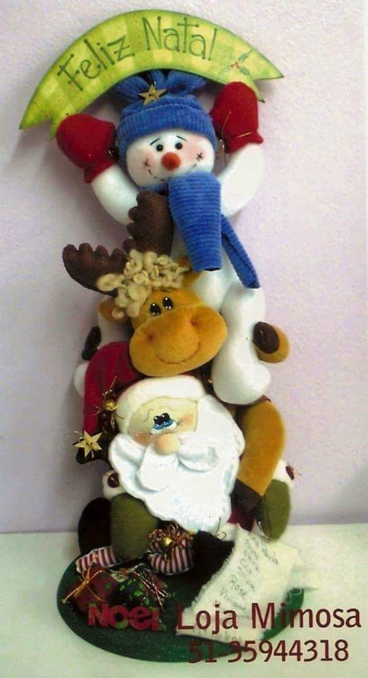 Artesanato Feltro Natal Moldes ~ ENFEITE DE NATAL COM MOLDES Natal, Artesanato e Feltro