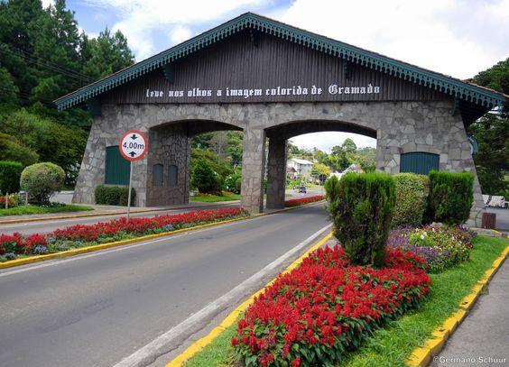 Avenida das Hortênsias. Gramado, Rio Grande do Sul, Brazil .