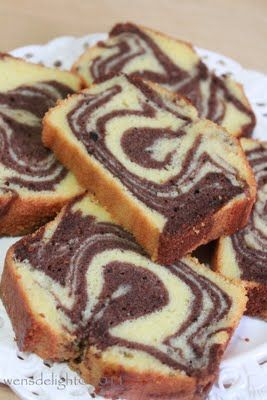 Beautiful Marble Cake, never have I seen such a precise, delicious-looking cake!! :D