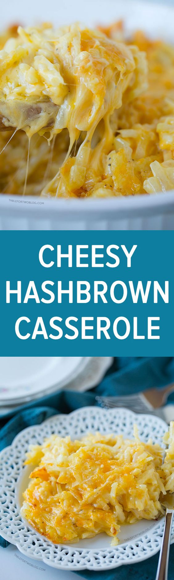 This cheesy hashbrown casserole is a simple and delicious side dish addition to your family brunch or large gathering!