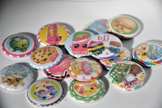 15 Shopkins Flat Back Buttons by ButtonGalore on Etsy