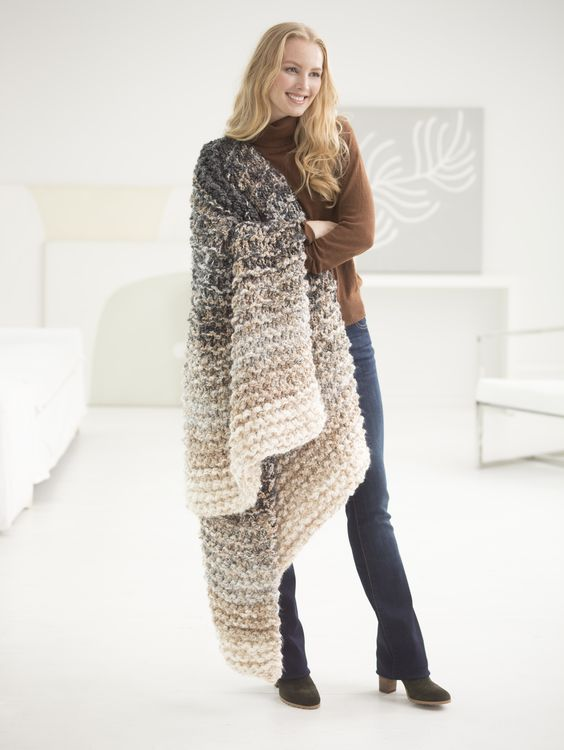 Knit Blanket Pattern Size 50 Needles : 8 Hour Throw (Knit) Circular knitting needles, Yarns and ...
