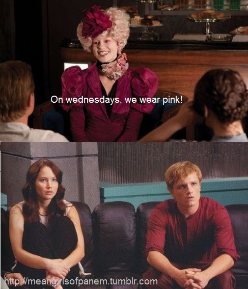 I hope you're wearing your pink today or YOU CAN'T SIT WITH US!! Follow @Renee Rominger's Mean Girls Of Panem board: http://pinterest.com/reneeduh/mean-girls-of-panem/