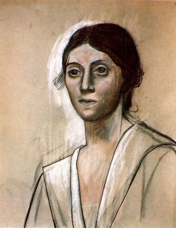 'portrait of olga' by pablo picasso (1921)