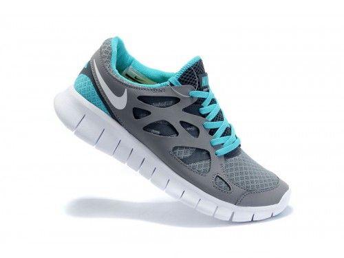 nike free run 2 grey blue