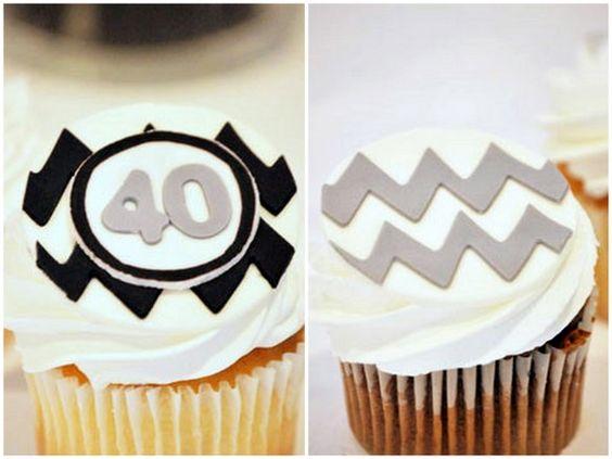 Chevron cupcakes: