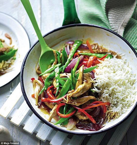 Joe Wicks Lean in 15: Sweet and sour pork with rice  | Daily Mail Online