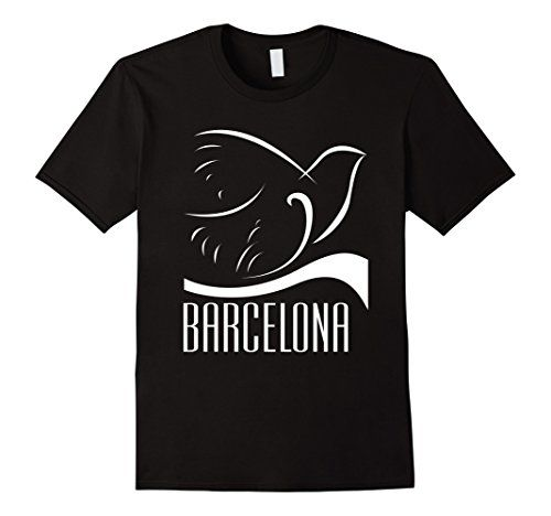 BARCELONA T Shirt in the style of Picasso's Doves. Picasso sketched and painted a lot of doves and pigeons.