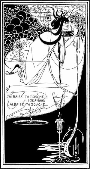Обри Бердслей. «Я поцеловала твой рот, Иоканаан». Иллюстрация к французскому…