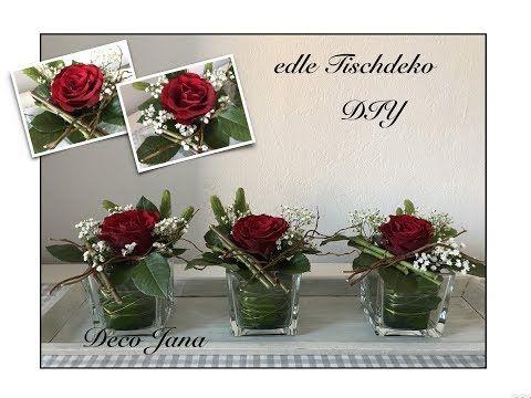 Diy Edle Rosendeko Hochzeitsdeko Tischdeko Blumendeko Selber Machen Deco Jana Youtube Hochzeitsdekoration Hochzeitsdeko Hochzeit Deko Tisch