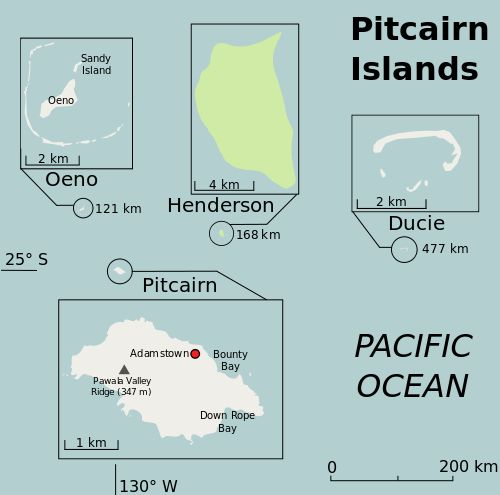 Pitcairn Island Group ◆Pitcairninseln – Wikipedia http://de.wikipedia.org/wiki/Pitcairninseln_Pitcairn #Pitcairn_Islands