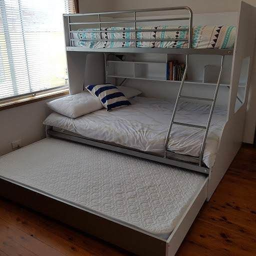 Single Over Double Bunk Set White Mattresses Linen Included
