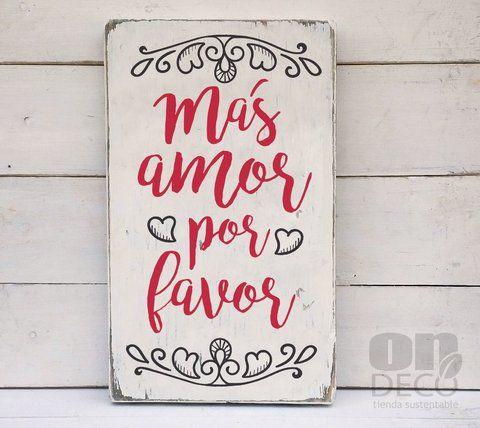 Cartel vintage m s amor por favor comprar online for Comprar cuadros bonitos