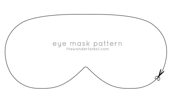 Printable Eye Mask Pattern | Using the pattern, you'll want to cut three identical pieces from ...: