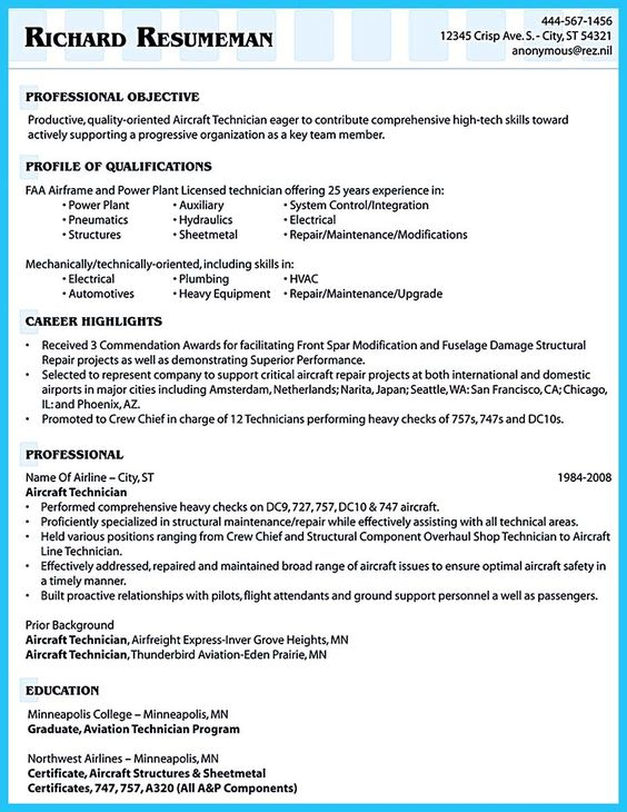 Internet offers various bartender resume template and samples that - aircraft structural repair sample resume
