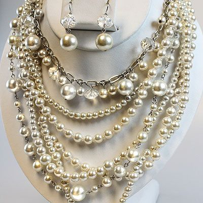 Gorgeous champagne pearls