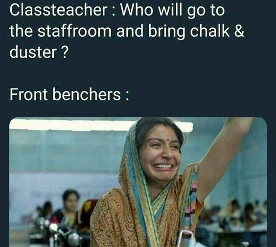 Who Will Go To The Staffroom And Bring Chalk Duster Funny School Memes Latest Funny Jokes Funny Jokes In Hindi