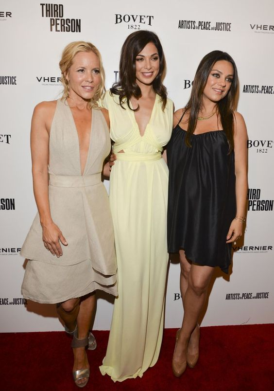 Pin for Later: Mila Leaves Ashton at Home to Bring Her Baby Bump to the Red Carpet  Mila walked the carpet with costars Maria Bello and Moran Atias.