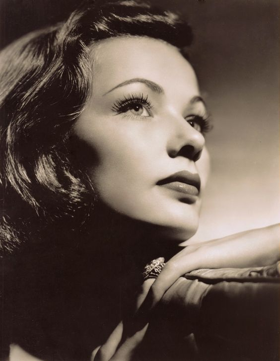 GENE TIERNEY (1920-1971) Hauntingly beautiful actress known for superb film noir's, great dramas & a flair for lighter roles. Including Son of Fury '42, Heaven Can Wait '43, Laura '44, The Razor's Edge '46, The Ghost & Mrs Muir '47, Whirlpool '49, Night & the City '50, Where the sidewalk ends '50, On the Riviera '51. The Egyptian '54. 1940's photo Please follow minkshmink on pinterest) #genetierney #filmnoir #forties: